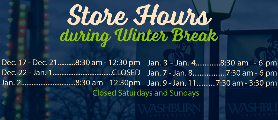 Washburn Tech Bookstore Hours and Location