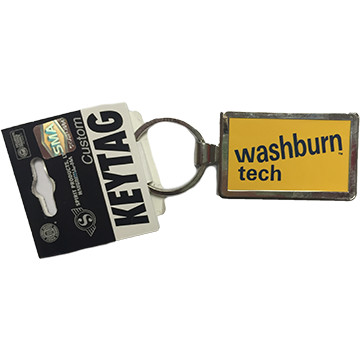 Image For Keychain - WU Tech Silver