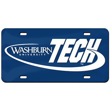 Cover Image For License Plate - Washburn Tech
